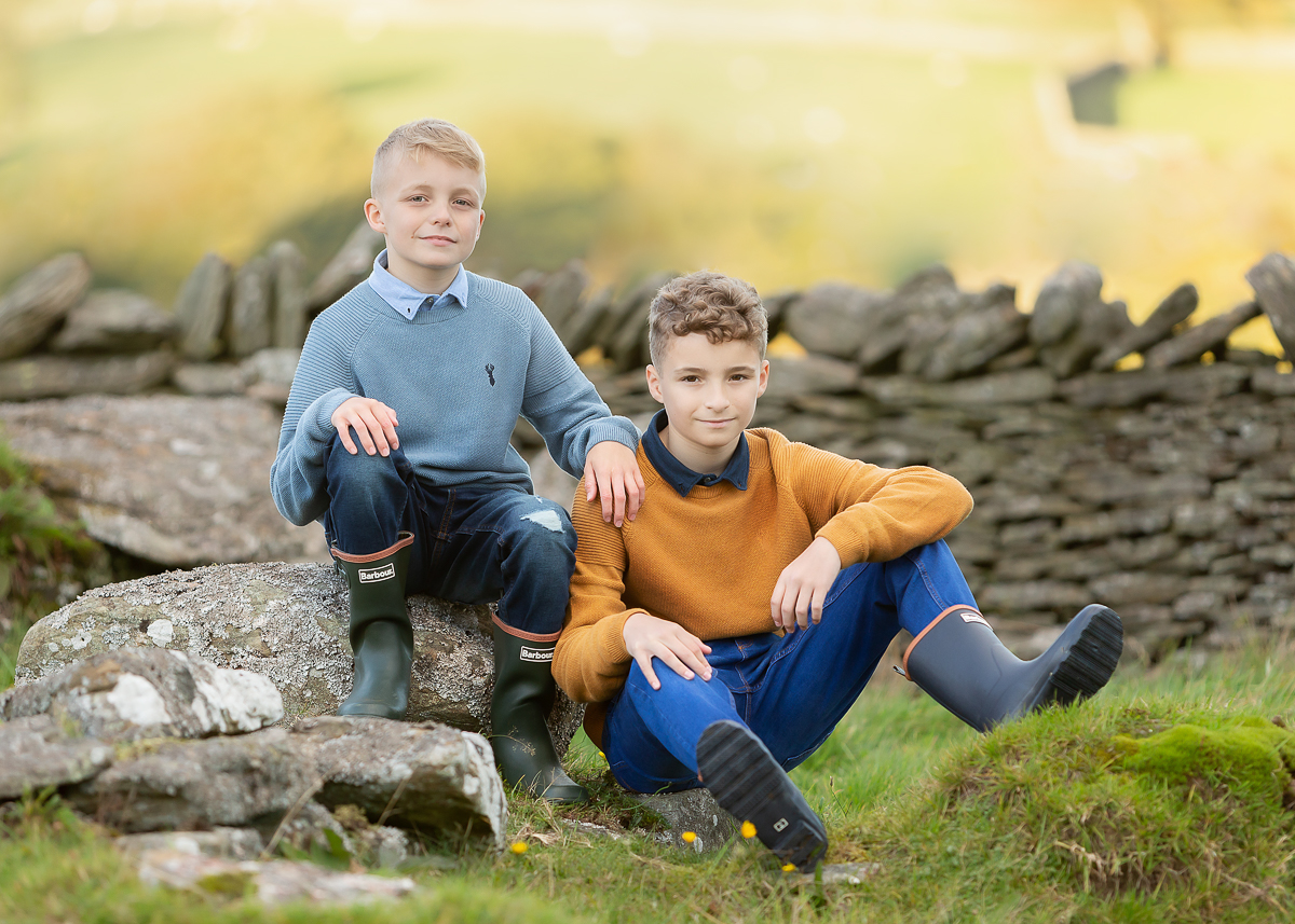 Oliver and Daniel at their family farm just outside Treharris, RCT, Rhondda Cynon Taff